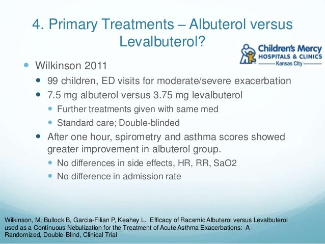 Treatment Of Asthma Exacerbations In The Pediatric