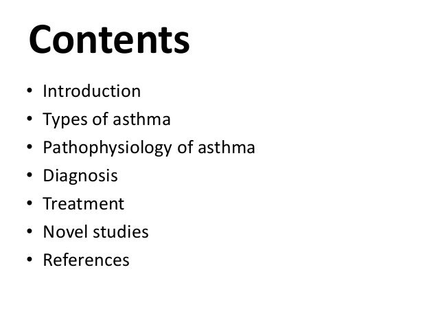 introduction to asthma Asthma for practice nurses – an introduction to asthma management in primary care this day is designed to enable practice nurses who may be new to asthma.