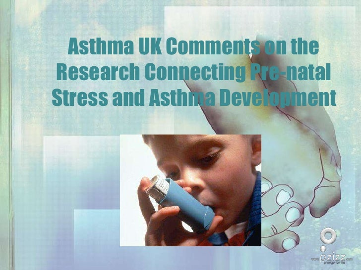 Asthma UK Comments on the Research Connecting Pre-natal Stress and Asthma Development<br />