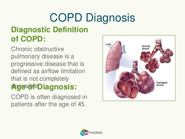 a short description of chronic obstructive pulmonary disease Chronic obstructive pulmonary disease is not one single disease but an umbrella term used to describe chronic lung diseases that cause limitations in lung airflow.