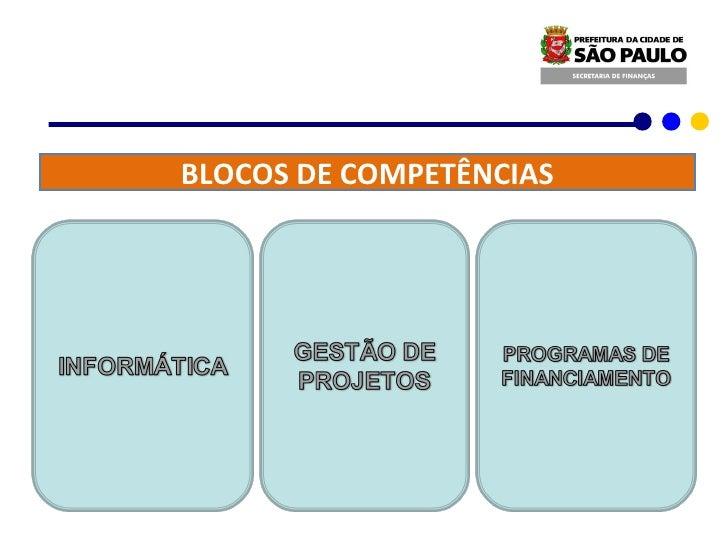 BLOCOS DE COMPETÊNCIAS