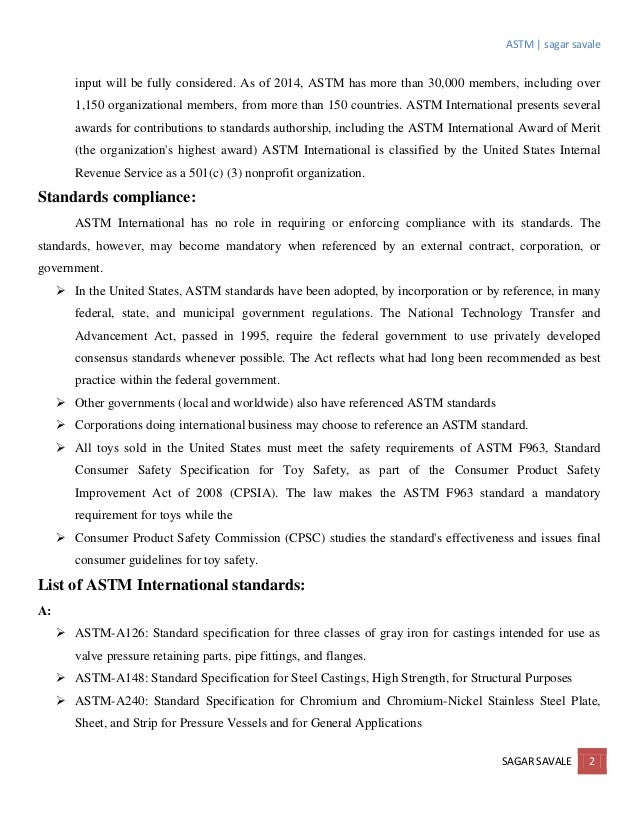 ASTM A380 Passivation Standard