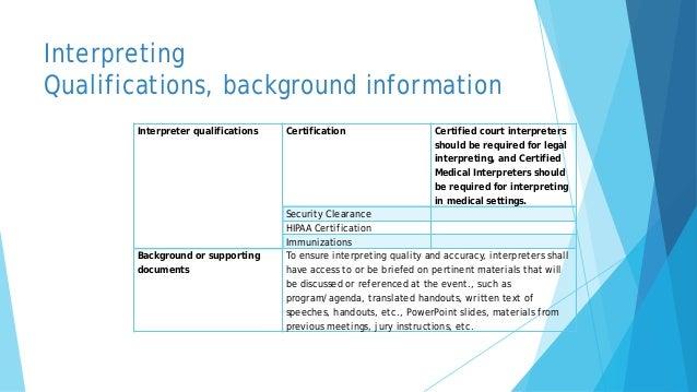 Astm Standard For Interpreting And Translation
