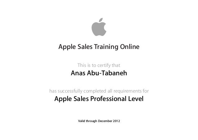 Apple Sales Professional 2012