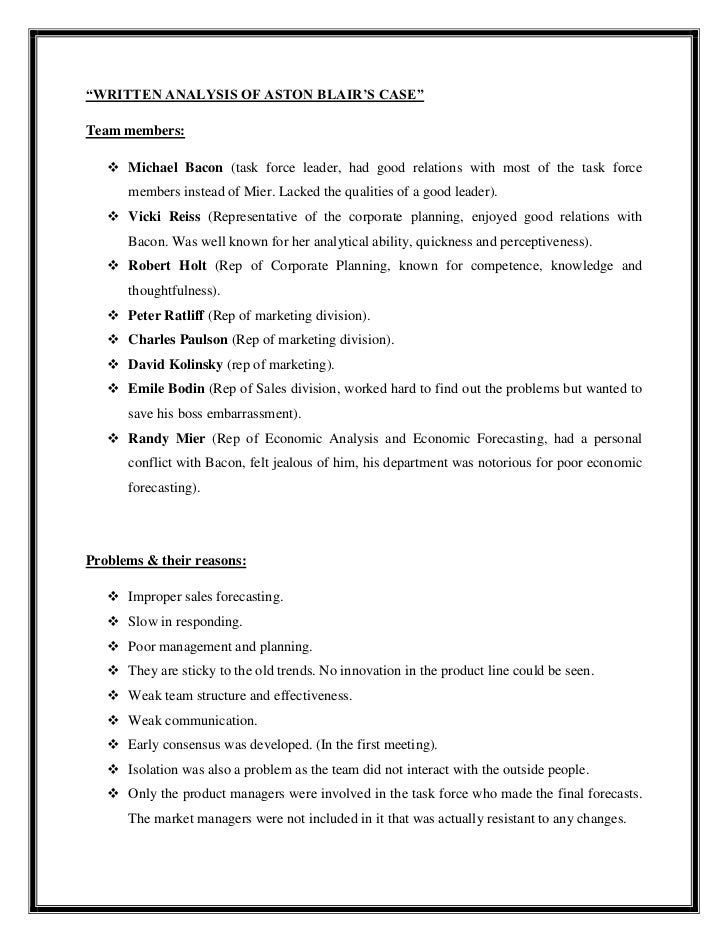 Aston-Blair, Inc. Case Solution & Answer