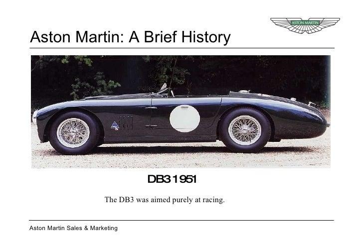 Aston Martin A Brief History