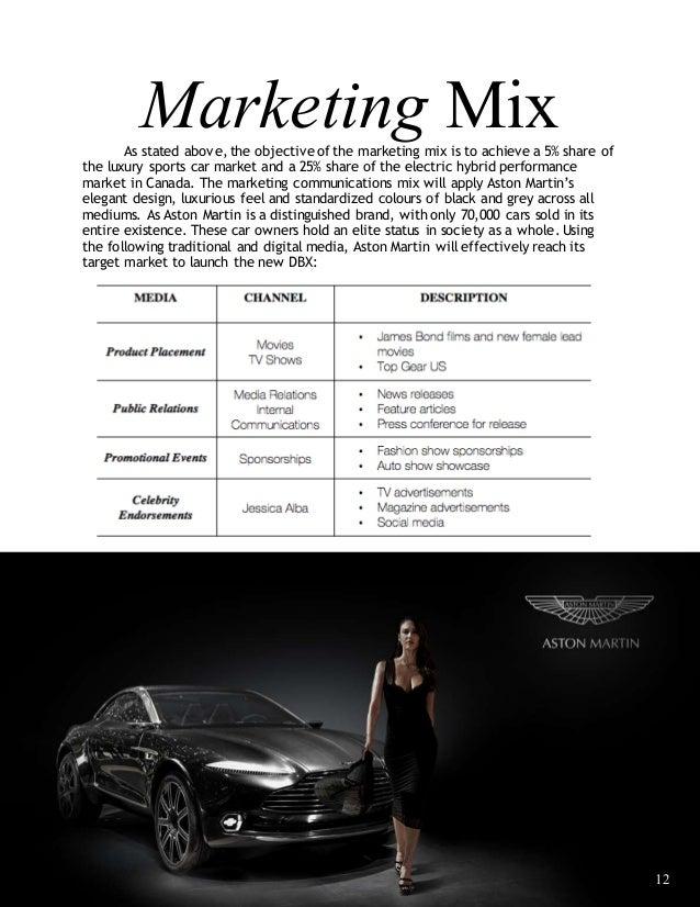aston martin marketing plan