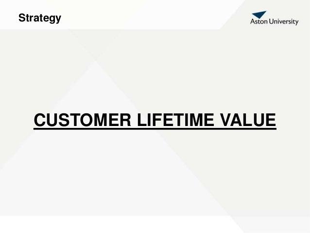 Strategy CUSTOMER LIFETIME VALUE