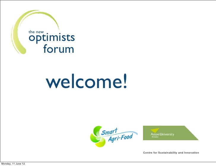 the new                     optimists                       forum                               welcome!                  ...