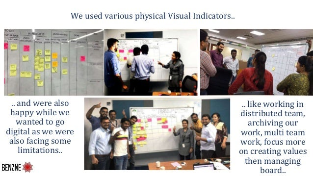 We used various physical Visual Indicators.. .. and were also happy while we wanted to go digital as we were also facing s...