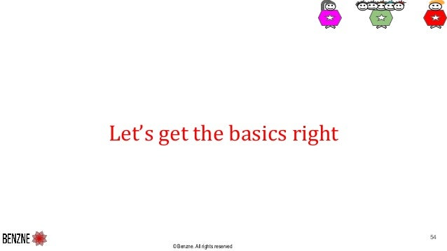 © Benzne. All rights reserved Let's get the basics right 54