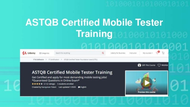 ASTQB Certified Mobile Tester Training