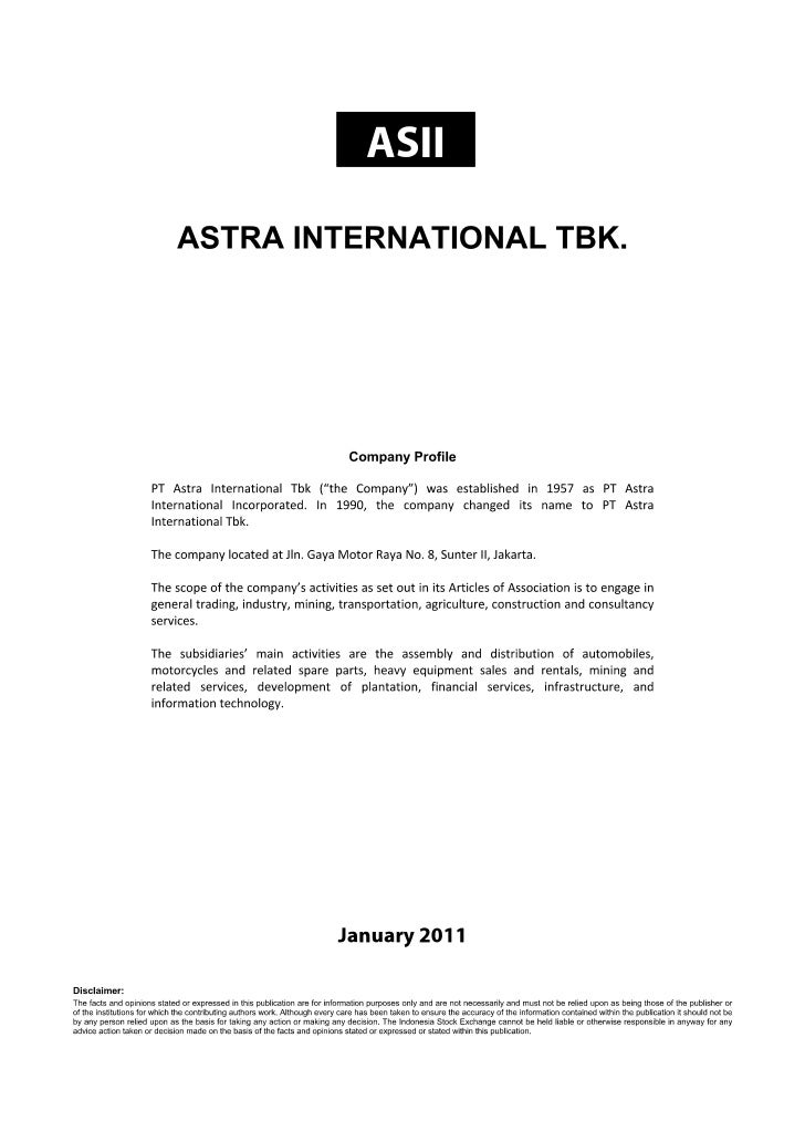 Astra International,Tbk Performance Review