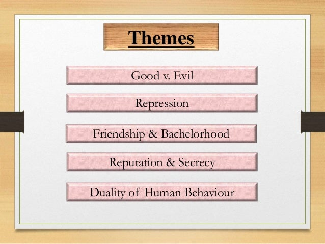 theme of dr jekyll and mr Friendship friendship is one of the main themes of the novel mr utterson and dr jekyll have been friends since school mr utterson is deeply concerned when dr.