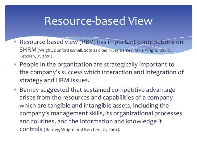 resource based view of ikea The resource based view model approach says that a company resource is   for instance, hsbc is a global financial corporation, ikea is a.