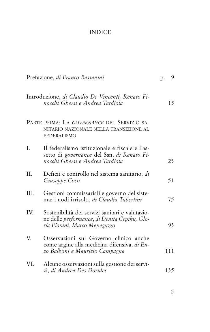 INDICEPrefazione, di Franco Bassanini                           p.    9Introduzione, di Claudio De Vincenti, Renato Fi-   ...