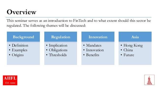 #FinTech Regulation Overview co-presented  Slide 2