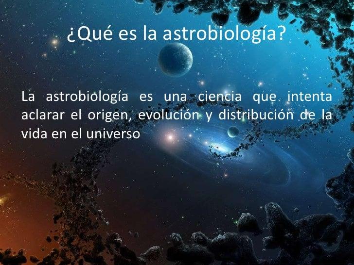Resultado de imagen de La Astrobiología