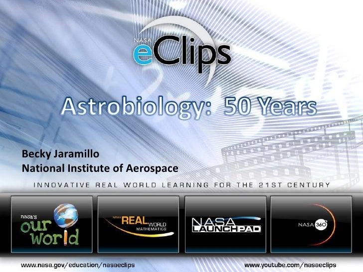 Becky Jaramillo National Institute of Aerospace