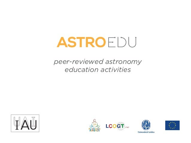 peer-reviewed astronomy education activities