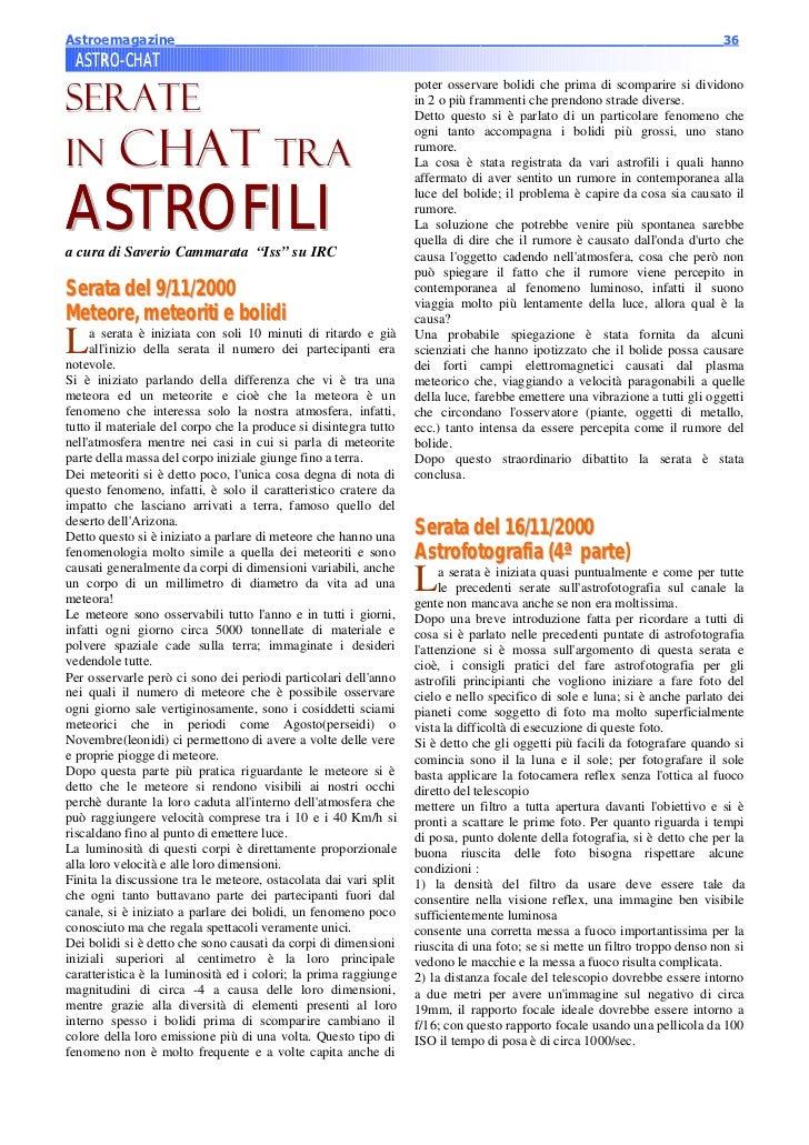 Astroemagazine______________________________________________________________________36 ASTRO-CHAT ASTRO-SERATE            ...