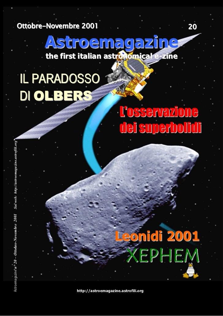 Ottobre-Novembre 2001                                      20                                                    Astroemag...