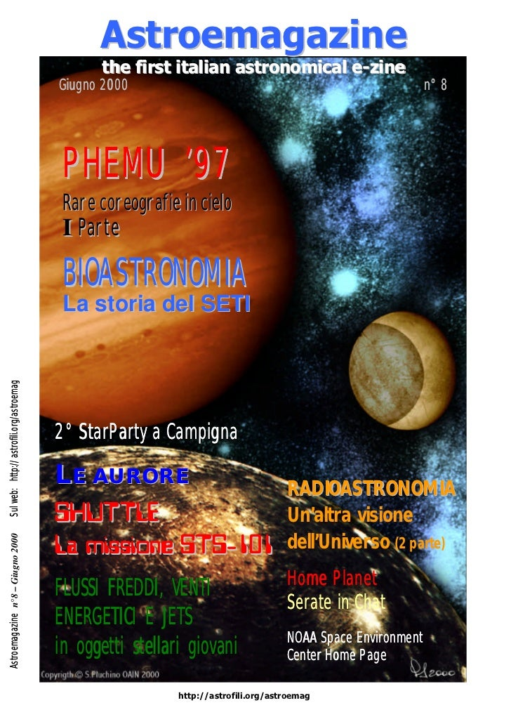 Astroemagazine                                                 the first italian astronomical e-zine                      ...