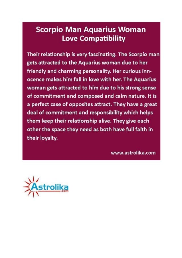 Astrolika com - scorpio man aquarius woman love