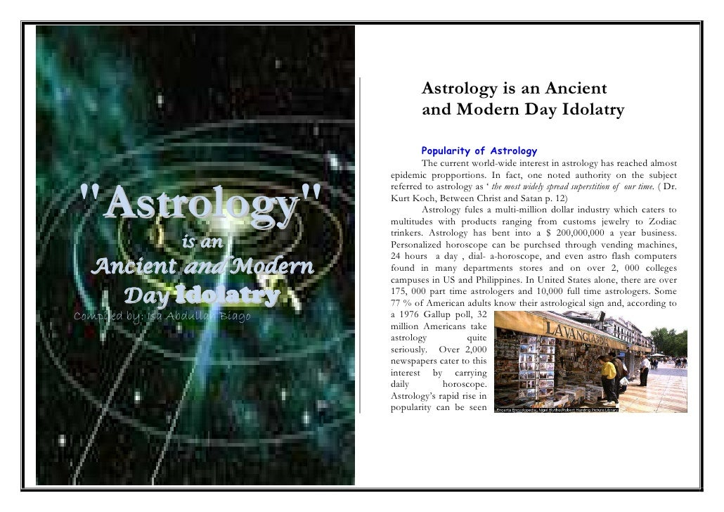 Astrology is an Ancient                                           and Modern Day Idolatry                                 ...