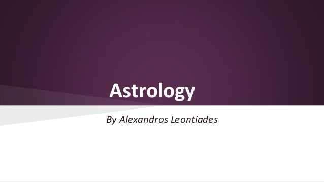 Astrology By Alexandros Leontiades