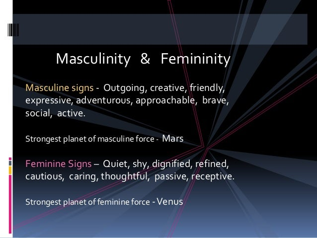masculine and feminine signs in astrology