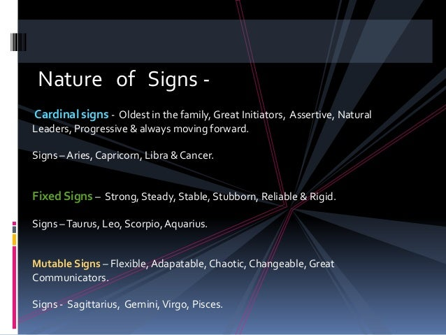 Signs Zodiac Elements