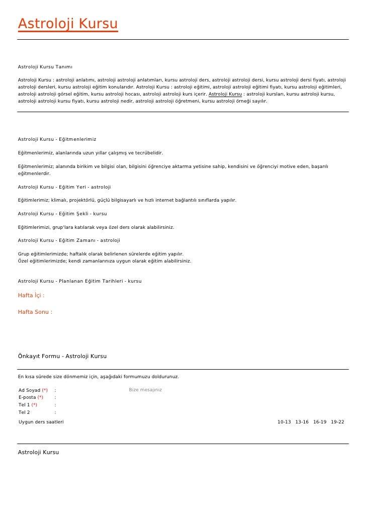 ASTROLOJI DERSLERI PDF DOWNLOAD