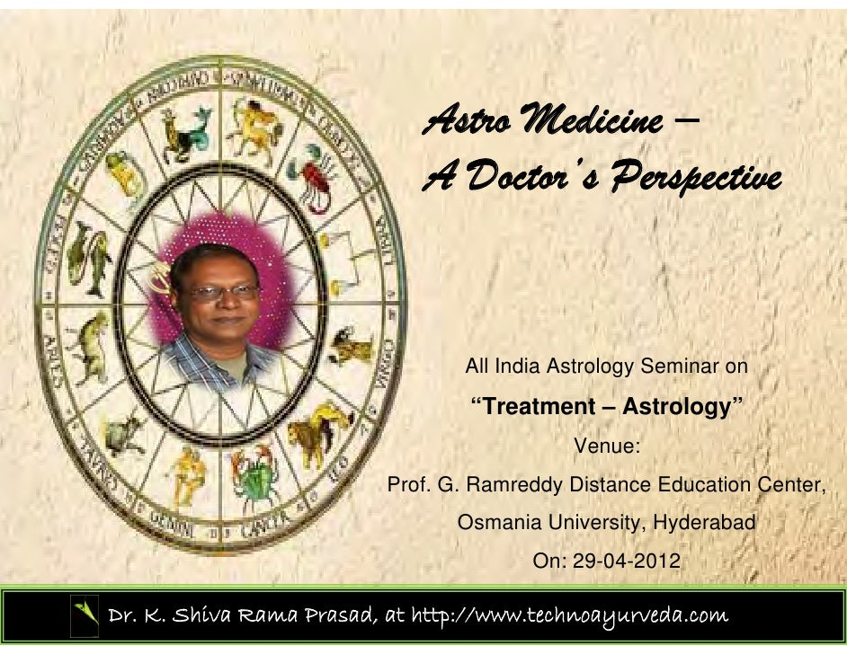 Astro Medicine –                             A Doctor's Perspective                                 All India Astrology Se...