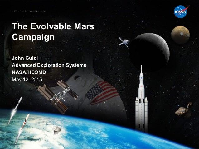 National Aeronautics and Space Administration The Evolvable Mars Campaign John Guidi Advanced Exploration Systems NASA/HEO...