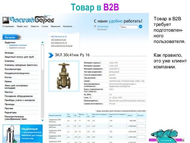 Взаимодействие с клиентом в B2C Именно от этого различия и возникает и второе различие: разные задачи при внедрении В2В и ...