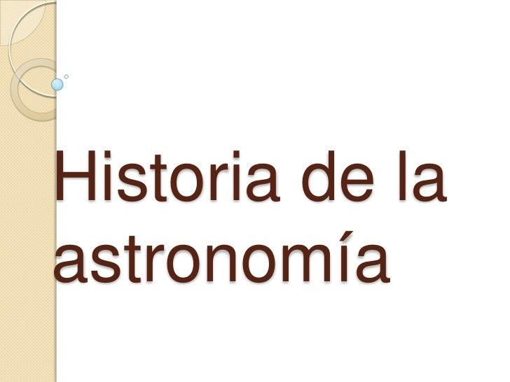 Historia de laastronomía