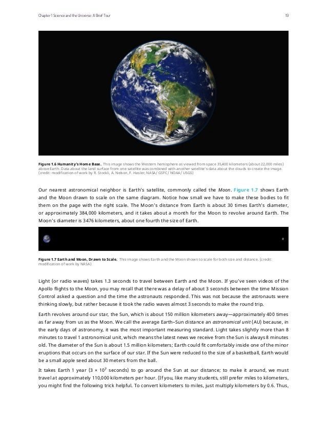 Figure 1.6 Humanity's Home Base. This image shows the Western hemisphere as viewed from space 35,400 kilometers (about 22,...