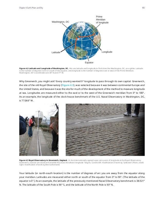 Figure 4.2 Latitude and Longitude of Washington, DC. We use latitude and longitude to find cities like Washington, DC, on ...