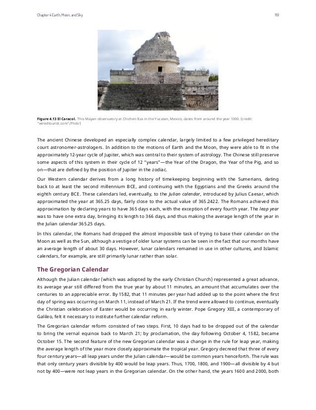 Figure 4.13 El Caracol. This Mayan observatory at Chichen Itza in the Yucatan, Mexico, dates from around the year 1000. (c...