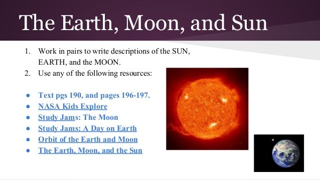 Astronomy fourth grade earth is unique because 13 the earth moon and sun ccuart Choice Image