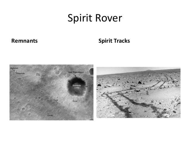 Spirit Rover Remnants Spirit Tracks