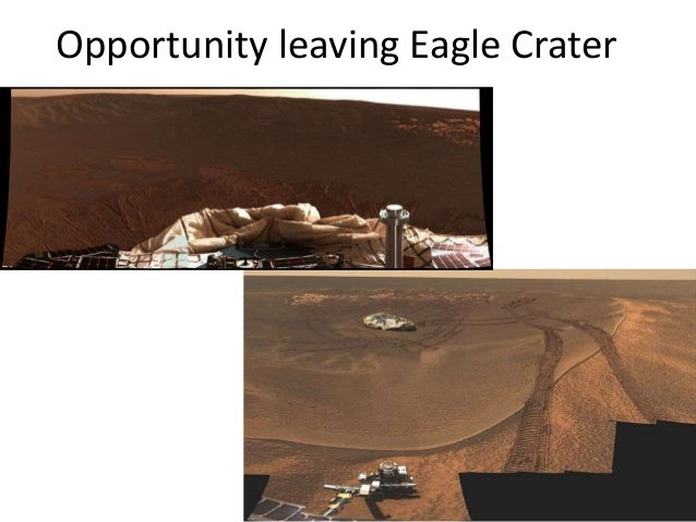 Opportunity leaving Eagle Crater