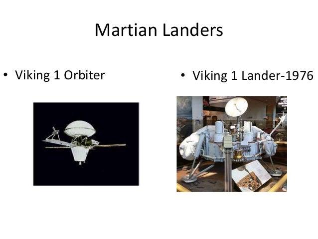 Martian Landers • Viking 1 Orbiter • Viking 1 Lander-1976