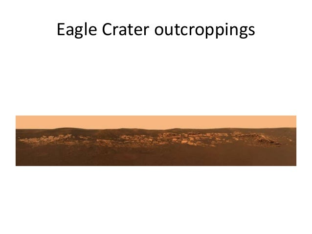 Eagle Crater outcroppings