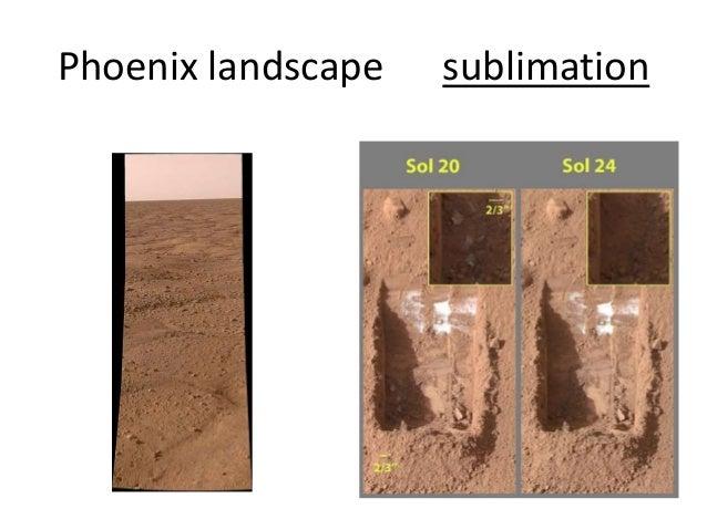 Phoenix landscape sublimation