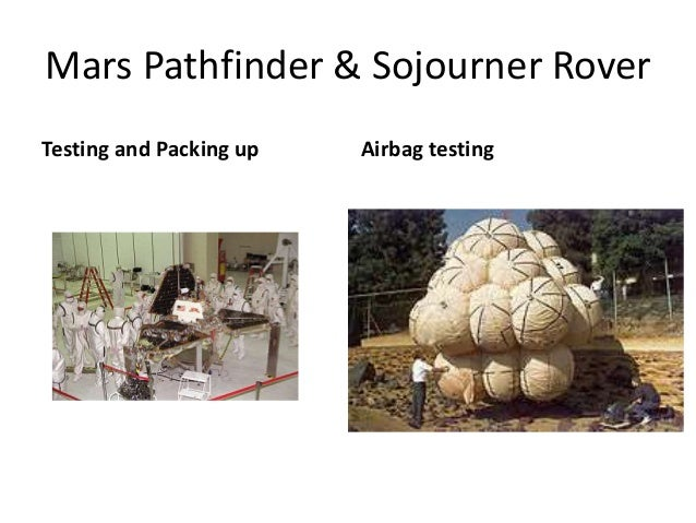 Mars Pathfinder & Sojourner Rover Testing and Packing up Airbag testing
