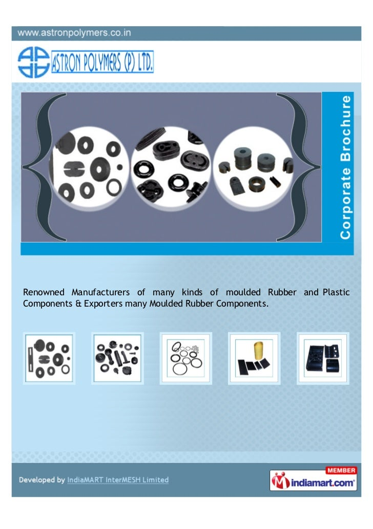 Renowned Manufacturers of many kinds of moulded Rubber and PlasticComponents & Exporters many Moulded Rubber Components.