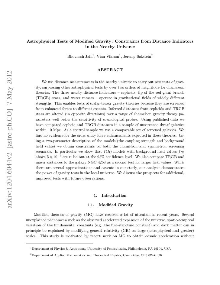 Astrophysical Tests of Modified Gravity: Constraints from Distance Indicators                                              ...