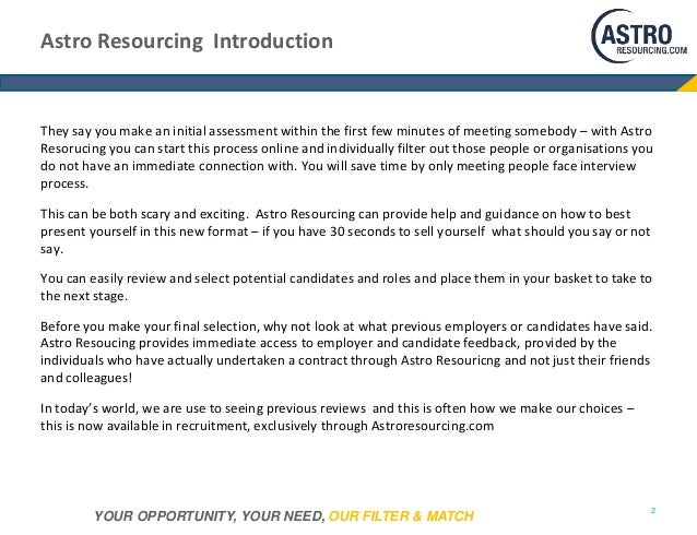Introduction to www.astroresourcing.com Slide 3